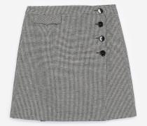 eleganter minirock mit hahnentrittprint