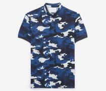 poloshirt mit print mit camouflage blux