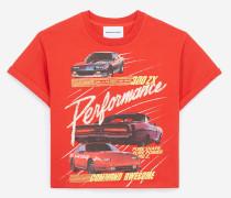 baumwoll-t-shirt mit print mit auto-motiv red