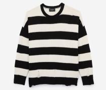 oversize-pullover aus gestreifter