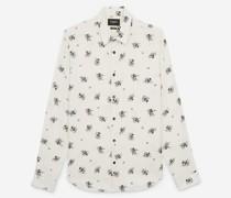 Slim-Fit-Hemd mit Blumenprint
