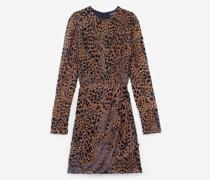 Short velvet rock'n'roll printed dress