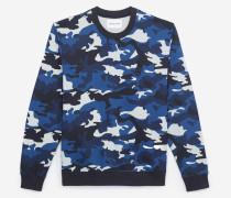 baumwoll-sweatshirt mit camouflage-print blux