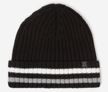 Mütze aus Wolle grobes Zopfmuster