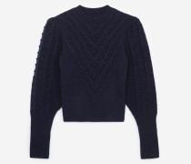 pullover aus wollmischgewebe in