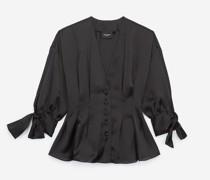 Oversize-Hemd mit Bindeärmeln