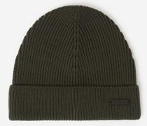 Mütze aus Wolle mit Zopfmuster