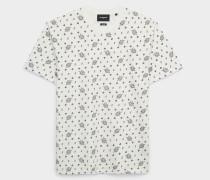 t-shirt aus baumwolle mit bandana-motiv roh