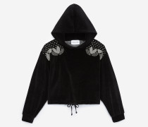 kapuzensweatshirt mit strass