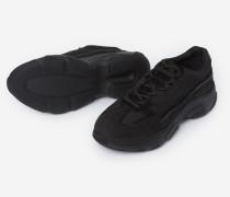 sneaker aus leinen mit dicker sohle