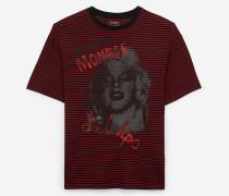 oversize-t-shirt aus baumwolle mit marilyn monroe-siebdruck
