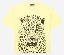 weites t-shirt aus baumwolle mit panthermotiv