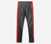 slim-fit-jeans in lederoptik
