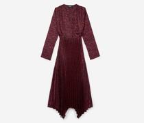 langes Kleid mit Print und Knöpfen