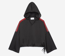 Viscose hooded oversized top