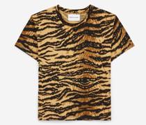 Bedrucktes rockiges T-Shirt mit Tigermotiv
