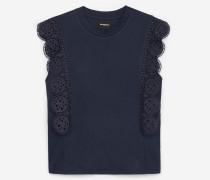 Ärmelloses Baumwoll-T-Shirt
