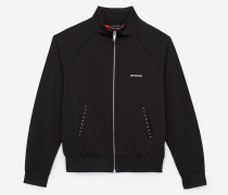 sweatshirt mit reißverschluss aus technischem molton in blouson-optik