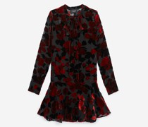 Short frill dress in floral print