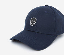 Baumwollkappe mit Happy-Skull-Badge