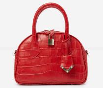 mittelgroße handtasche irina by the kooples in kroko-optik in red
