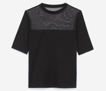 schmales t-shirt aus jersey mit details