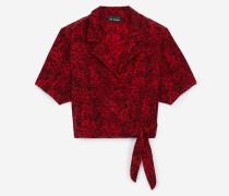 cache-coeur-top aus seide mit vintage cashmere-print