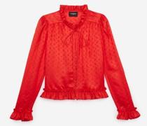 Jacquard-Hemd mit Volants