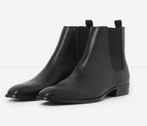 Flache Chelsea-Boots aus Leder