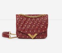 mini-handtasche stella by the kooples aus leder red