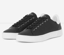 Leder-Sneaker mit Kontrasteinsatz