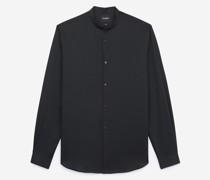 Kragenloses Baumwollhemd