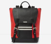 rucksack zayn by the kooples aus zweifarbigem grafischem leder