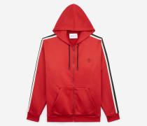 baumwoll-sweatshirt mit streifen red