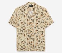 Bedrucktes lockeres Hemd mit kurzen Ärmeln