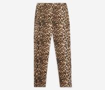 Fließende Hose mit Leopardenprint
