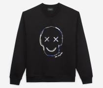 sweatshirt mit motiv happy skull