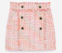 tweed-minirock mit fransen