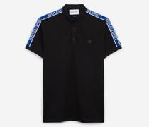 Baumwoll-Poloshirt mit Badge