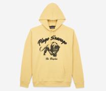 kapuzen-sweatshirt mit plage sauvage-stickerei und panther