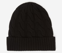 Mütze aus geflochtenem Wollstrick