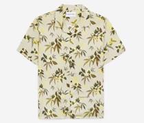 bedrucktes Hemd mit Tropenmotiv