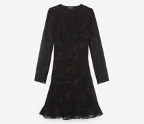 Elegantes kurzes Kleid mit Kaschmirmotiv