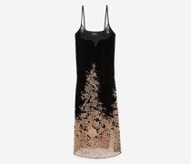 langes Kleid aus Samt Négligé-Stil