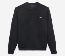 weites sweatshirt mit leder-details