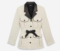 elegante Jacke mit Lederdetail