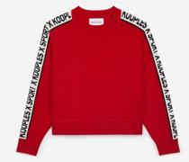 eleganter Pullover mit Logostreifen