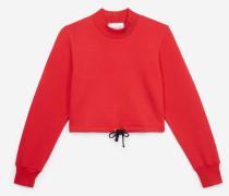 kurzes sweatshirt mit schnür-detail red