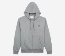 sweatshirt mit kapuze und vordertasche gry