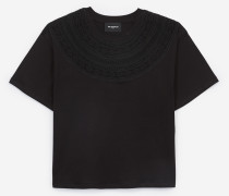 baumwoll-t-shirt mit kurzen ärmeln